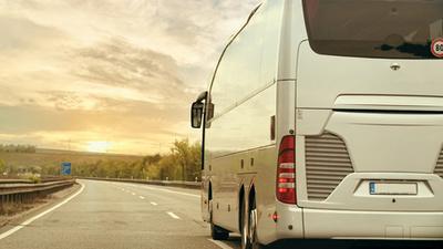 Busfahrt in Frankreich