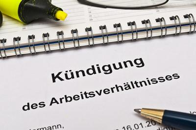 Forme de la lettre de démission allemande
