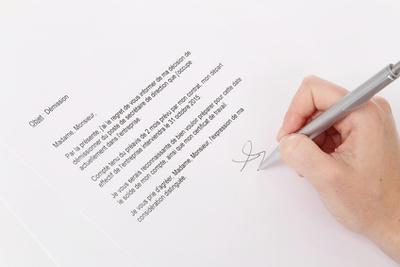 Musterbeispiel für einen französischen Kündigungsbrief