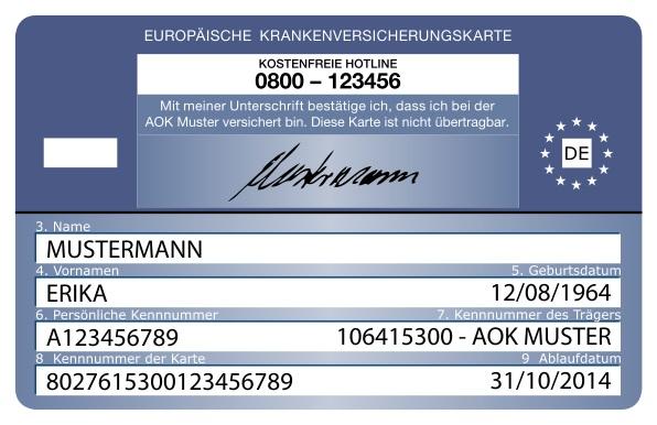 Die europäische Krankenversicherungskarte