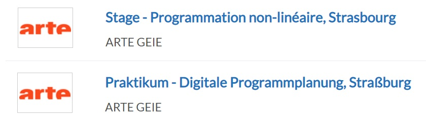 La même offre d'emploi diffusée en français et en allemand